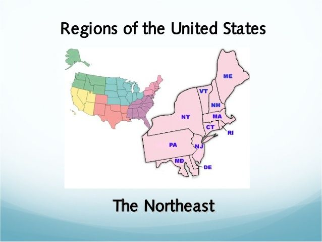 This is a slide show with tons of information about the northeastern states. It covers physical features, resources available, economy, and the people of this area.
