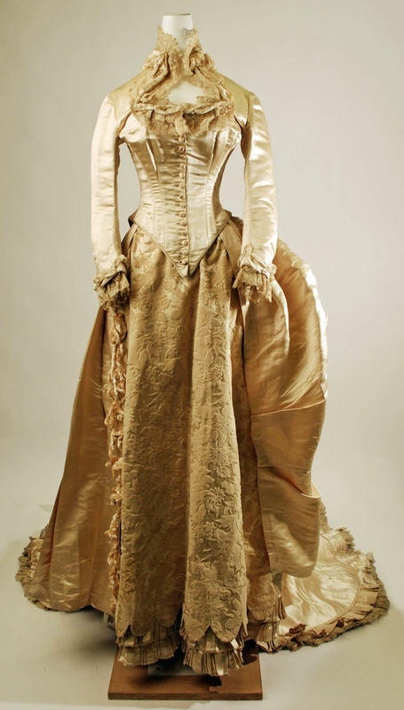 1884 Gold Wedding Dress Tessa The Preservers Of History Are As Her