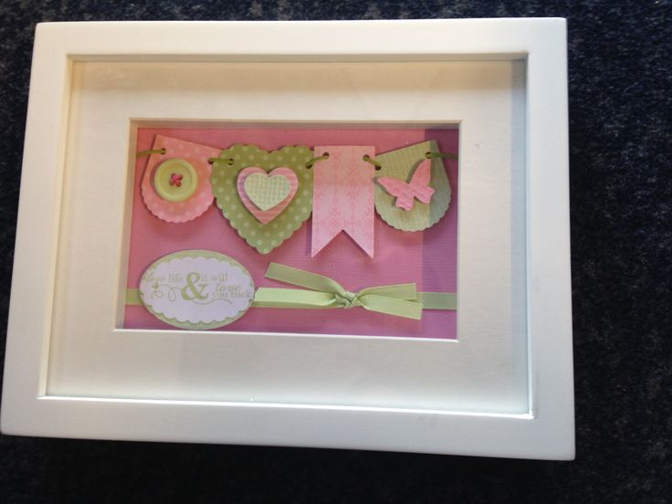 Shadow Box Frame using Hearts a Flutter Dies