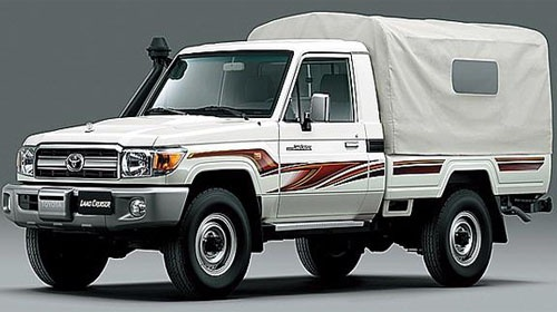 79 Series Land Cruiser pick up.. Most likely a Middle East model..