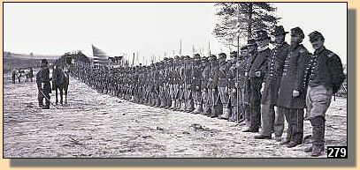 110th Pennsylvania Regiment at Falmouth, Va April 24, 1863. Nearly annihilated at the battle of Chancellorsville.