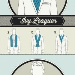 Gentlemen's Guide To Scarf Tying   Visual.ly