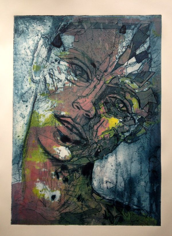 Collagraph Print | collagraph print by jetjames traditional art printing collagraph 2013 ...Could draw over Gelli print