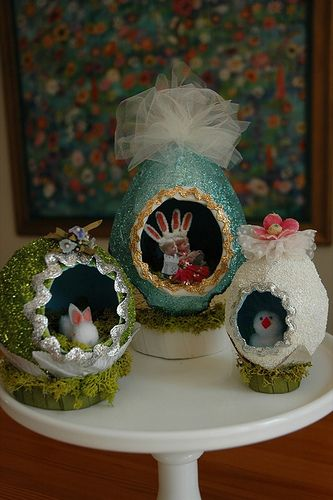 Glittered Panorama Eggs
