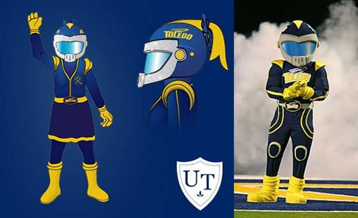 University of Toledo Rockets added in 2011 a female mascot ...
