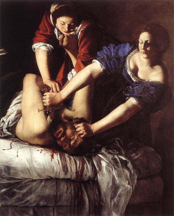ARTEMISIA GENTILESCHI-Giuditta che decapita Oloferne (1620) Olio su tela @Galleria degli Uffizi, Firenze