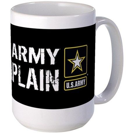 U.S. Army: U.S. Army Chaplain (Black) Large Mug on CafePress.com