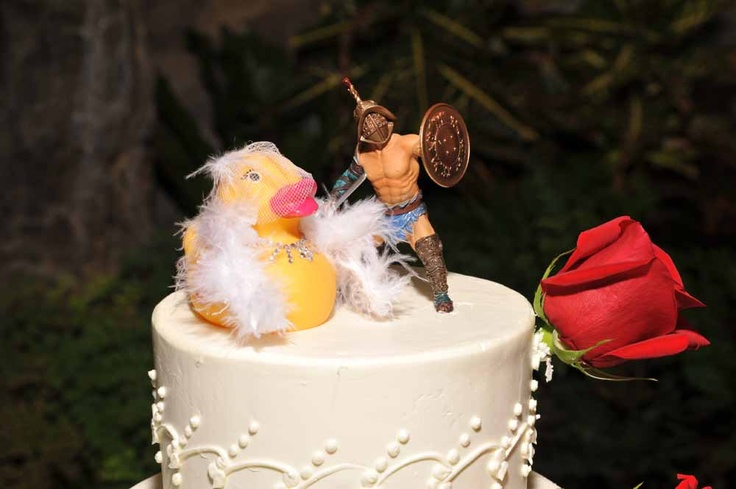 rubber duck wedding cake toppers marilyn inspired rubber ducky and a gladiator 19439