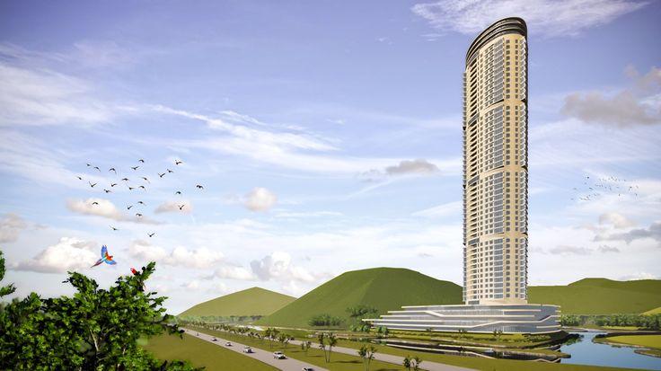 As Duas Montanhas in Rio de Janeiro. Studie naar ontwikkeling van appartementen in 'low rise', 'medium rise', 'high rise' en 'super high rise' zones.