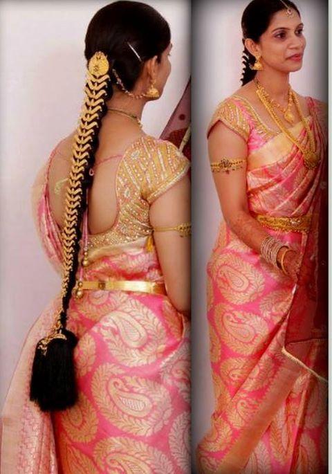 Lovely saree & jewellery