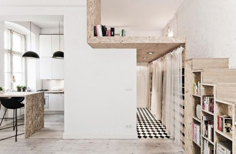 29sqm Apartment Features Space-Saving Stairs & Loft Bed  29sqm-apartment-features-space-saving-stairs-loft-bed
