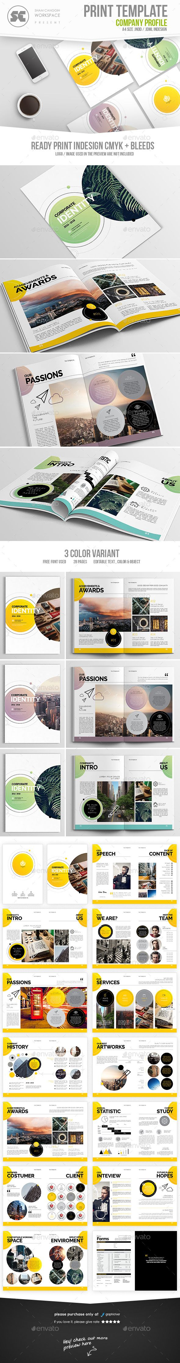 #Company #Profile - Corporate #Brochures Download here: https://graphicriver.net/item/company-profile/18503297?ref=alena994