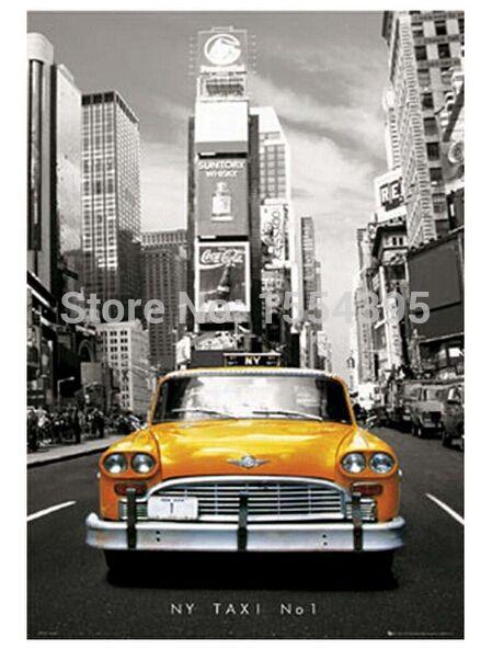 Hot Custom The NY Taxi No.1 Classical Fashion Stylish Home Decor Retro High Quality Poster (50x76cm) Wall Sticker U1-284