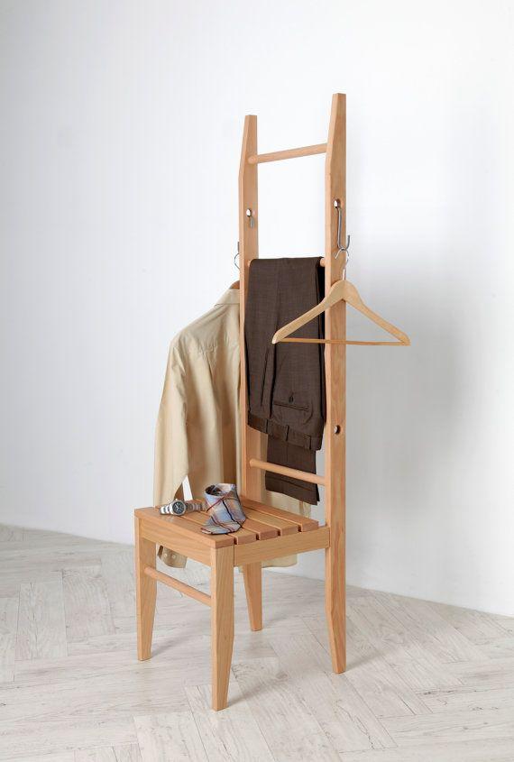 Dress Chair beech from the Odenwald Dressboy by Kleiderleiter