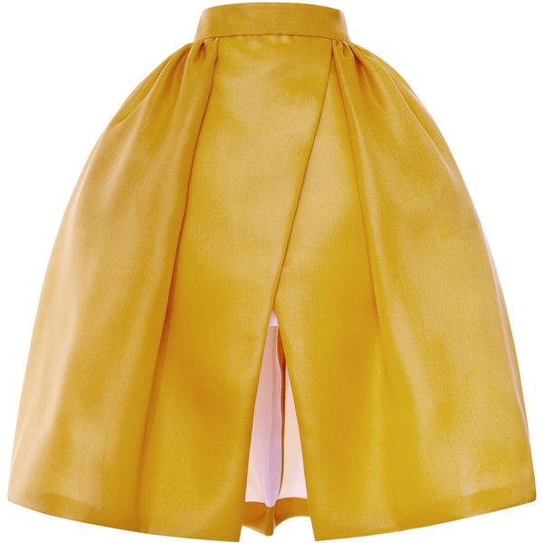DELPOZO Pleated Hip Wrap Skirt ($2,250) ❤ liked on Polyvore featuring skirts, falda, wrap skirt, brown pleated skirt, brown skirt, mid length skirts and pleated skirt
