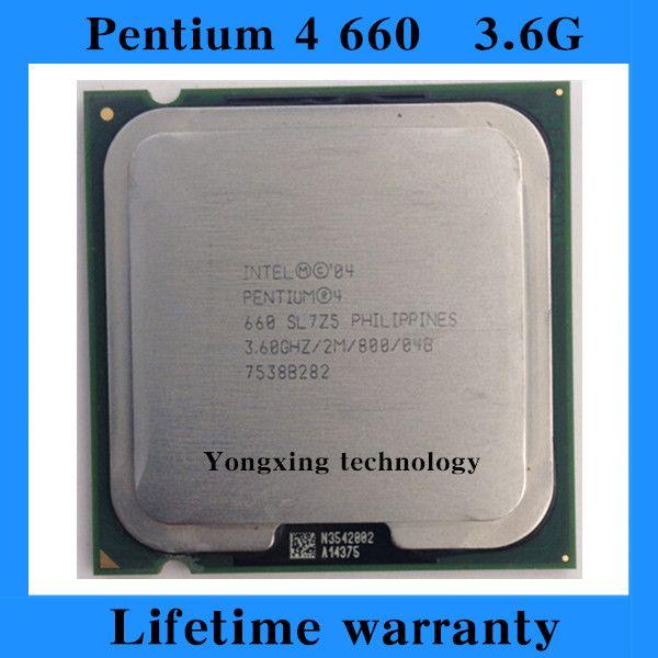 Pentium 4 660 3.6GHz 2M 800 desktop processors P4-M 660 CPU Socket LGA 775 pin Computer