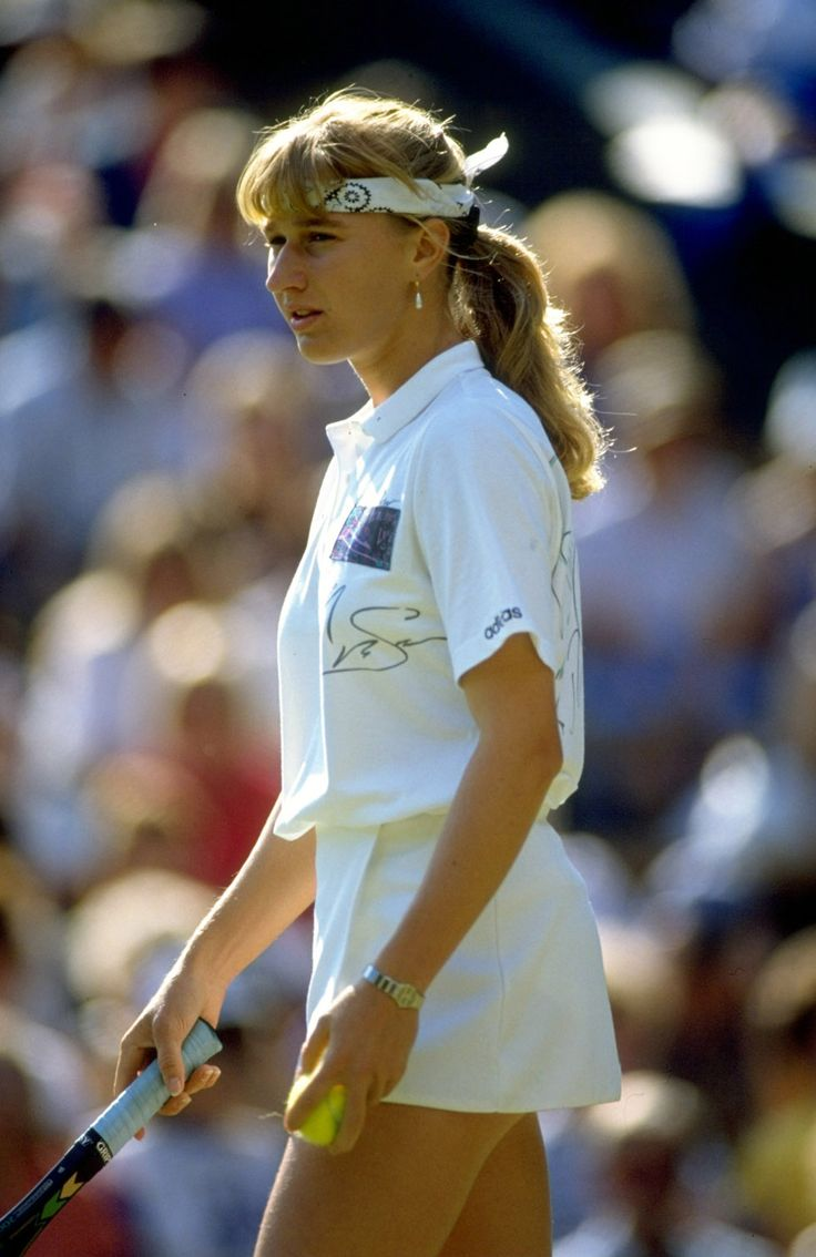 Tennis champion and all-time great Steffi Graf in 1990.