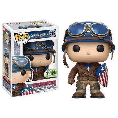 c71ba2916b Marvel Captain America Vinyl Bobble Head  WWII  - Walmart.com