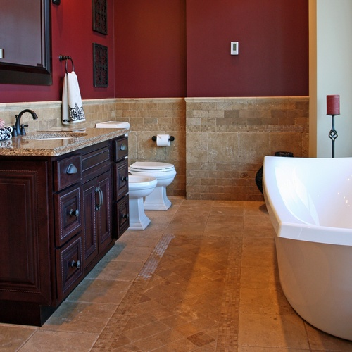 burgundy bathroom paint ideas