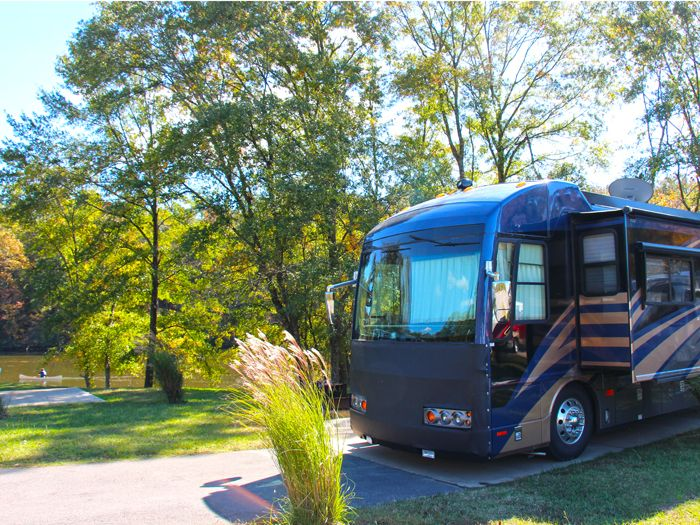 All RV sites offer a concrete patio and full hook-ups including 30/50 amp power, as well as dedicated side parking for your chase vehicle.