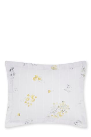 Buy Ochre Ditsy Reversible Cushion from the Next UK online shop