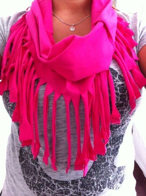 DIY: sjaal van een shirt! - Beautyadvies.com