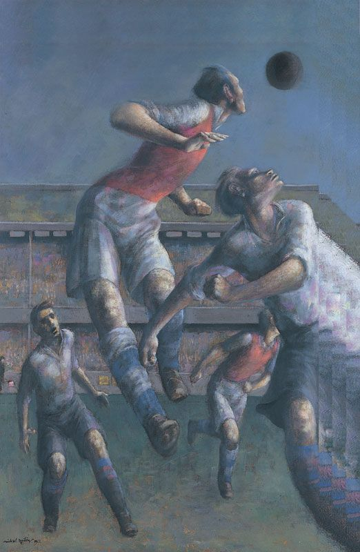 """Arsenal v. Aston Villa"" by Michael Ayrton, 1953 (oil on canvas)"