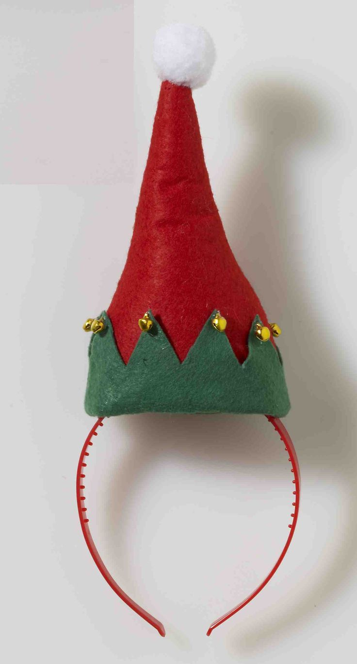 Who's been elfin around this year? The Christmas Elf Hat with Bells Costume Headband looks great with many Christmas costumes or just wear it to spread some holiday cheer.