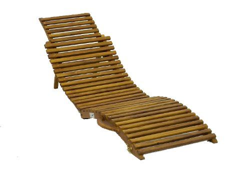 DIVERO Falt-Strandliege / Sonnenliege aus Teak Holz: Amazon.de: Garten