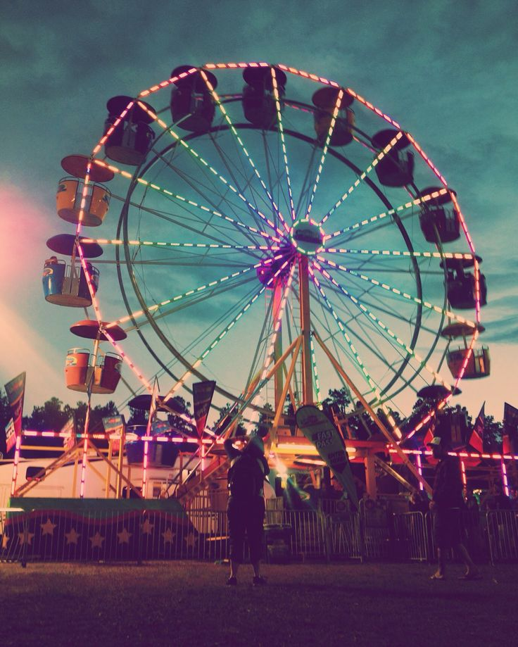 Ferris Wheel At The County Fair Photography Color