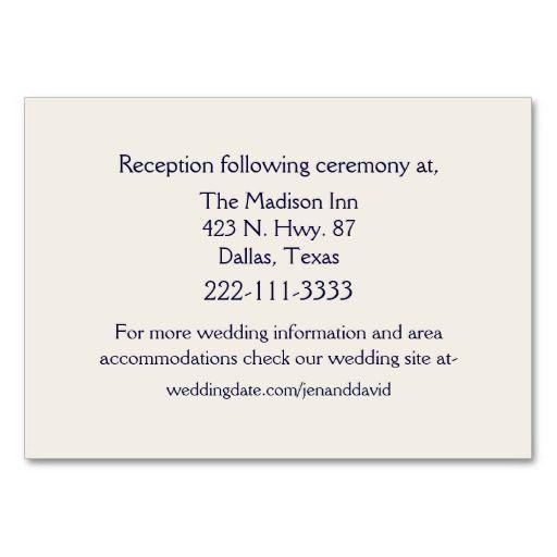 Chic Country Denim Amp Ivory Wedding Enclosure Card
