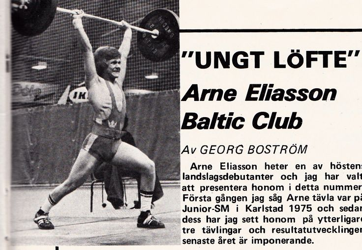 1976 Arne Eliasson Baltic Club Malmö