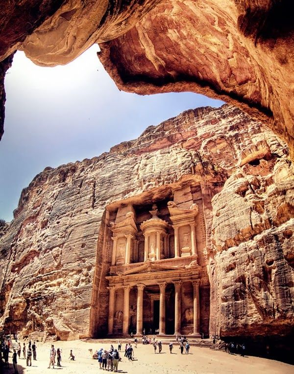 Petra jordan an ancient city famous for its rock carved