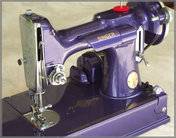 Singer Featherweight in purple!!!