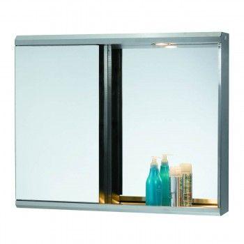 illuminous medicine cabinet led light single mirror door polished ss shop - Medicine Cabinet With Lights