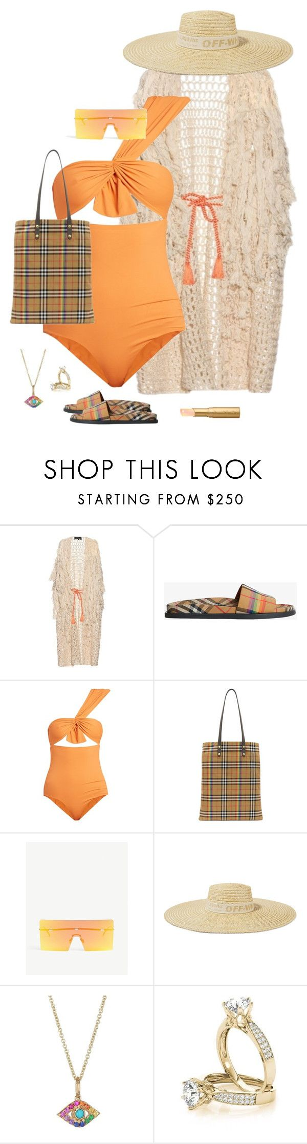 """Untitled #636"" by stephstyles508 ❤ liked on Polyvore featuring Tabula Rasa, Burberry, Marysia Swim, Christian Dior, Off-White, Sydney Evan and Too Faced Cosmetics"