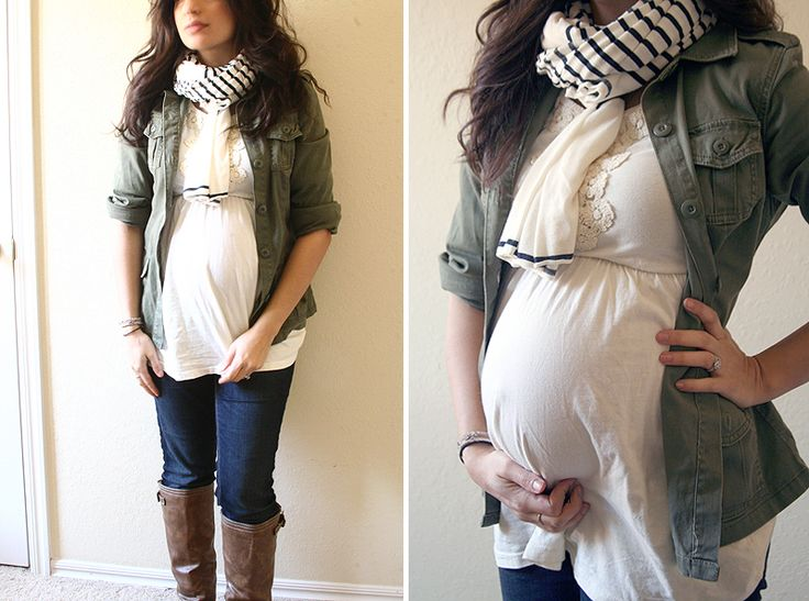 Dressing the bump:  Lots of ideas for making your regular clothes work during pregnancy. I might be glad I pinned this for LATER!