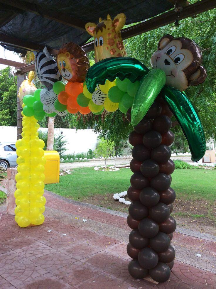 Arco de globos para la mesa principal vista de otro ngulo for Arco decorativo jardin