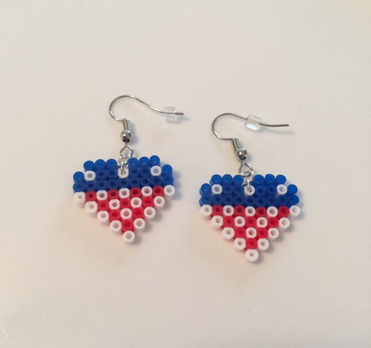 A personal favorite from my Etsy shop https://www.etsy.com/listing/539801137/american-flag-themed-heart-earrings
