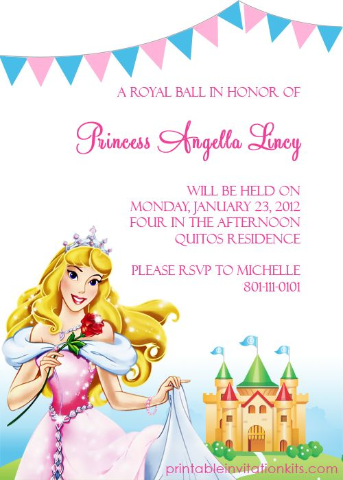 17 Best images about Party invites – Sleeping Beauty Party Invitations