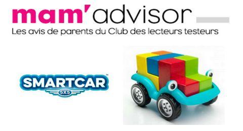 Test Gratuit Famili – Mam'Advisor : Jeu de logique pour enfants SmartCar 5x5 de SmartGames