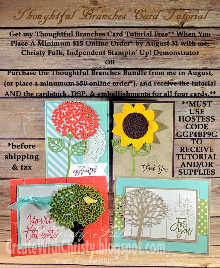 249 best Thoughtful Branches Stampin Up images on Pinterest ...