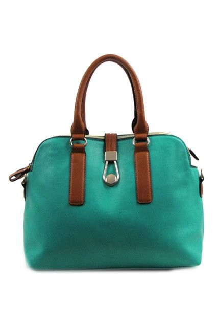 The Coast Handbag Turquiose and Brown By Angel Handbags. nspired by the coastline this casual handbag has colors of dark brown sand and the green hue of sea foam. Features three large zippered sections and two small interior pockets. There is a lot you can fit inside this handbag. Includes a removable shoulder strap
