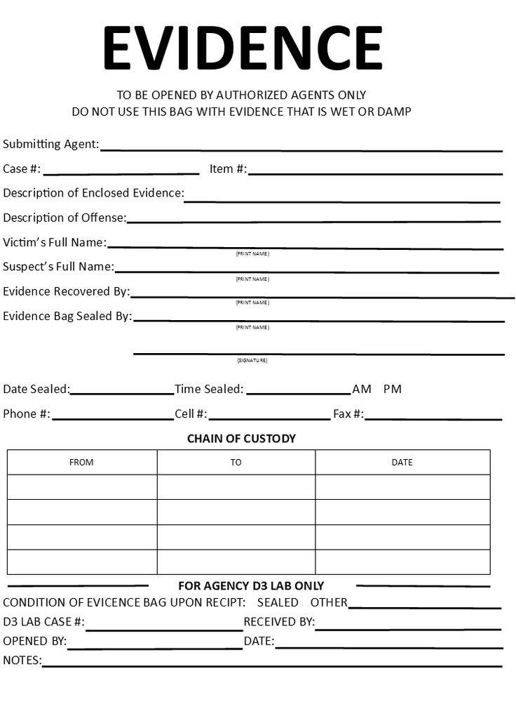 10 best photos of evidence form template evidence log sheet.