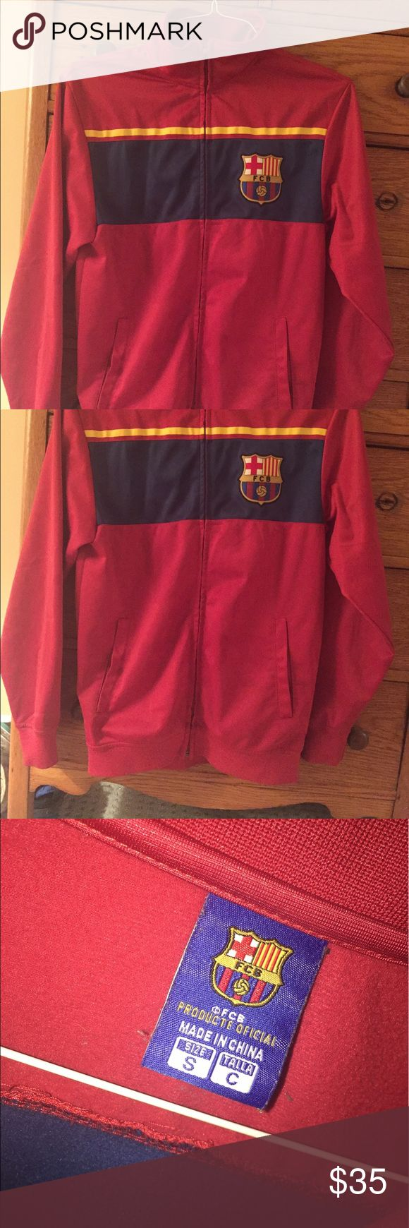 FC Barcelona Full Zip Jacket - rare! I loved this but sadly it doesn't fit anymore! Size small and runs true to size. No stains or rips. Worn occasionally but hasn't been worn in years Custo Barcelona Jackets & Coats Performance Jackets