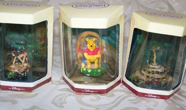 Disney Tiny Kingdom - Winne the Pooh Pooh Mowgli Kaa Jungle Book NEW Figures OOP #DisneyTheDisneyStoreLTD