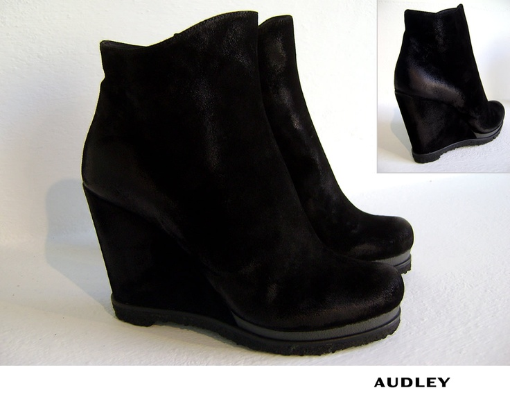 Audley Shoes - Scarpa Zeppa Grisel Black Velo Grass