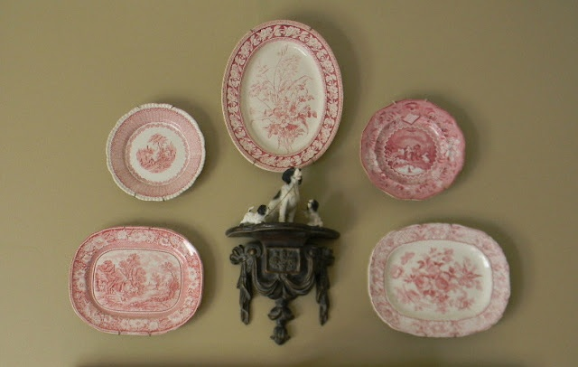 Red Transferware and Dogs!