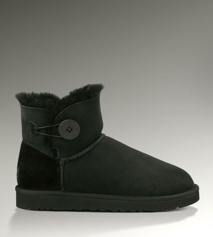 UGG Mini Bailey Button 3352 Black Boots · BeliebtUgg Stiefel SchneeschuheWinterstiefelBoot-outfitsSchwarze ...