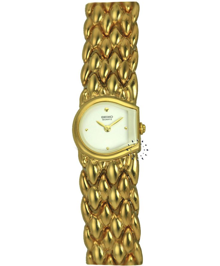 SEIKO Gold Stainless Steel Bracelet Τιμή: 390€ Τιμή Προσφοράς: 78€ http://www.oroloi.gr/product_info.php?products_id=34363